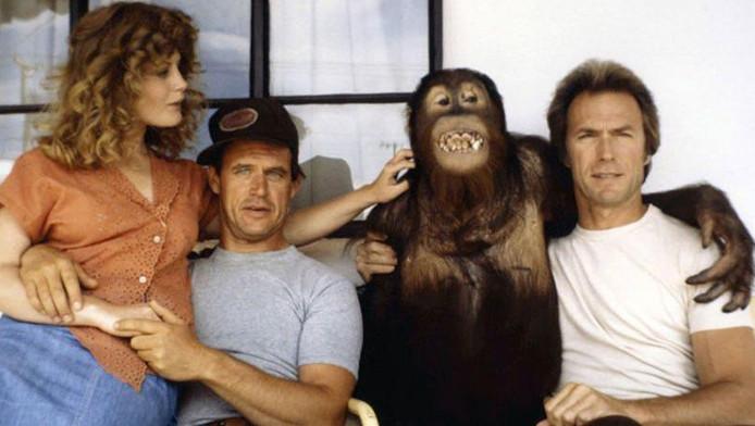 """Avec Clint Eastwood, pour le film """"Doux, Dur et Dingue"""", de James Fargo"""