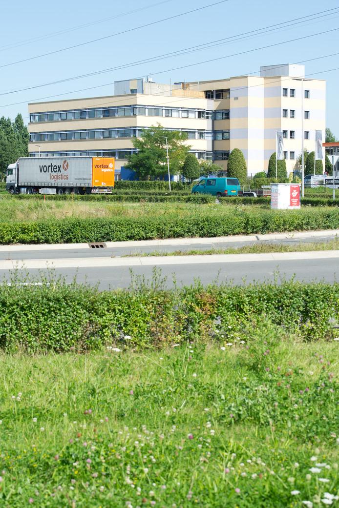 Het Tiemstrapand op de hoek van de Energieweg en de Wolfskuilseweg in Nijmegen.