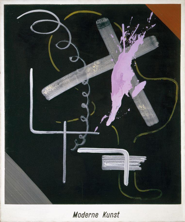 Sigmar Polke, Moderne Kunst, 1968. Beeld The Estate of Sigmar Polke