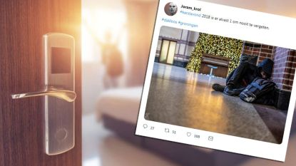 Hotel geeft dakloze man (20) gratis kamer zodat hij met kerst niet buiten hoeft te slapen