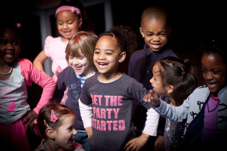 Het is een grote dag voor de deelnemende kinderen. Beeld Bijlmerparktheater