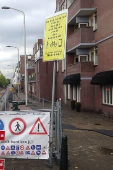 Verkeersbord  in plat Haags al weer weg