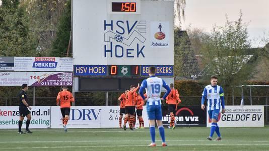 Hoek stond zaterdag ook tegen Sparta Nijkerk weer snel op achterstand.