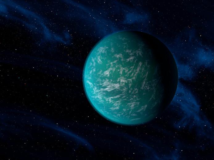 Water lijkt in de ruimte ruimschoots voorhanden te zijn, zoals op exoplaneet  Kepler-22b