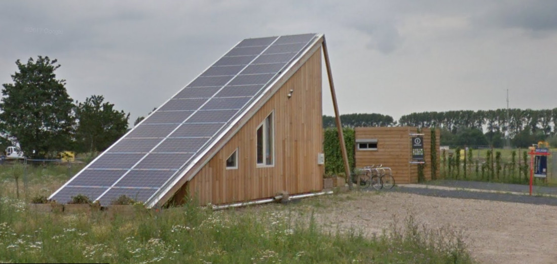 'Tiny House' aan de Voorburglaan in Wageningen.