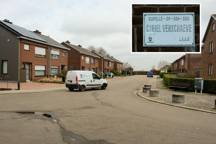 De Cyriel Verschaevelaan in Kapelle-op-den-Bos verandert in de lente van naam.