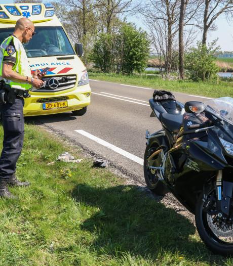 Motorrijder raakt gewond in Emmeloord na botsing met reiger