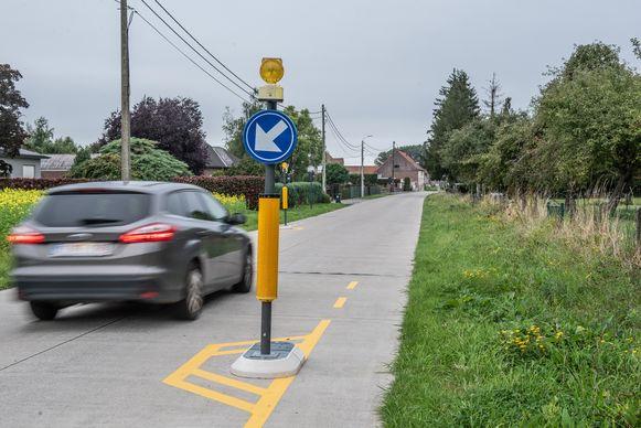 De wegversmallingen blijken uiteindelijk toch niet de grote verkeersremmers te zijn.