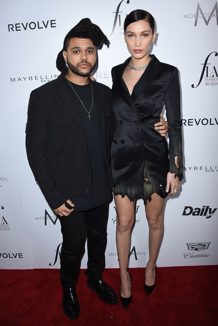 The Weeknd en Bella Hadid op 20 maart 2016