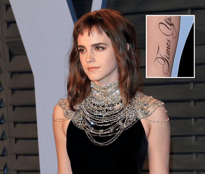 Emma Watson en haar tatoeage.
