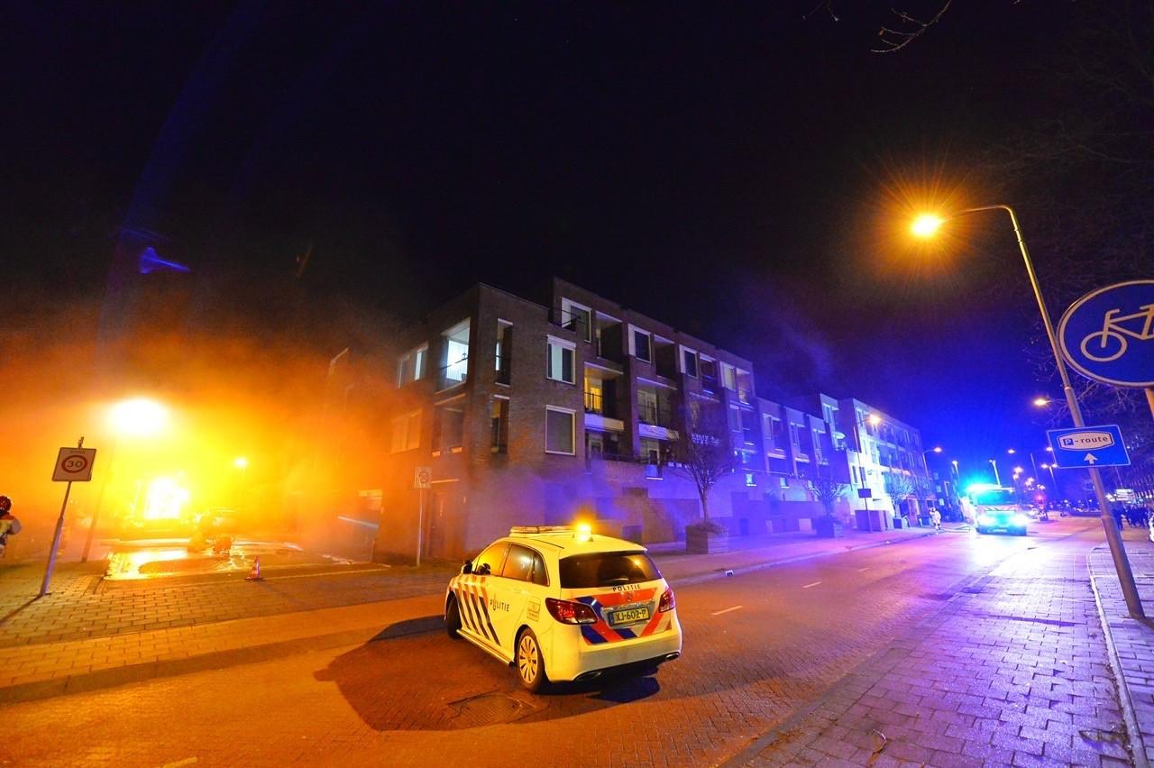 Brand in de parkeergarage aan de Carolusdreef in Valkenswaard.