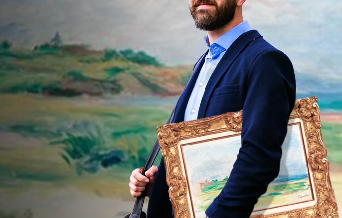 Met het schilderij onder zijn arm liep de man plompverloren het veilinghuis uit.
