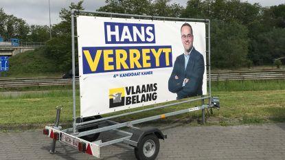 """Publitrailer Hans Verreyt (VB) gestolen: """"Tegenstand bereikt intriest hoogtepunt"""""""