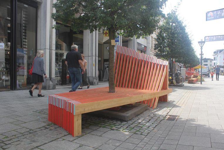De houten constructies in de Korte Zoutstraat die nu afgebroken zijn.