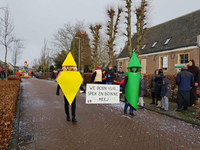 De optocht in Veldhoven was gezellig voor jong en oud.