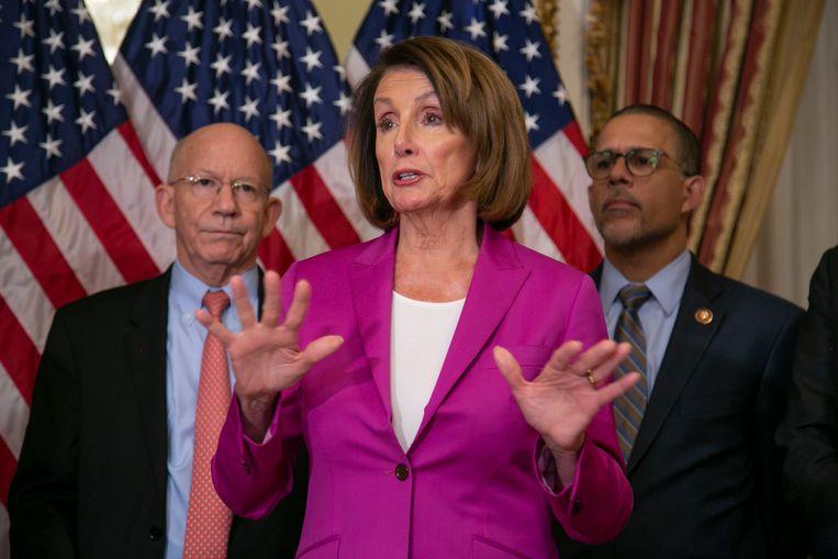 Nancy Pelosi, de - Democratische - voorzitter van het Huis van Afgevaardigden.