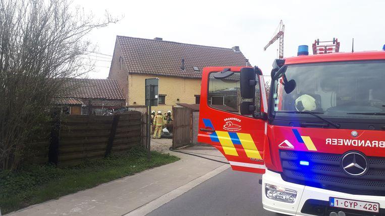De brand ontstond in de keuken.