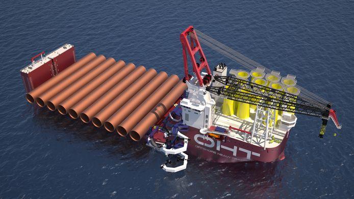 Het Rotterdamse ontwerpbureau Ulstein Design & Solutions ontwierp het schip voor een Noors bedrijf.
