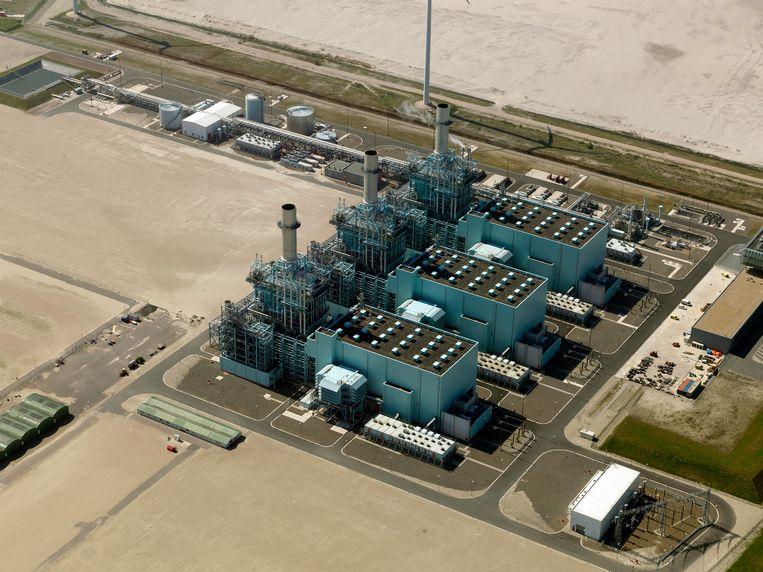 De energiecentrale van Nuon in de Eemshaven in Groningen.  Beeld Nederlandse Freelancers