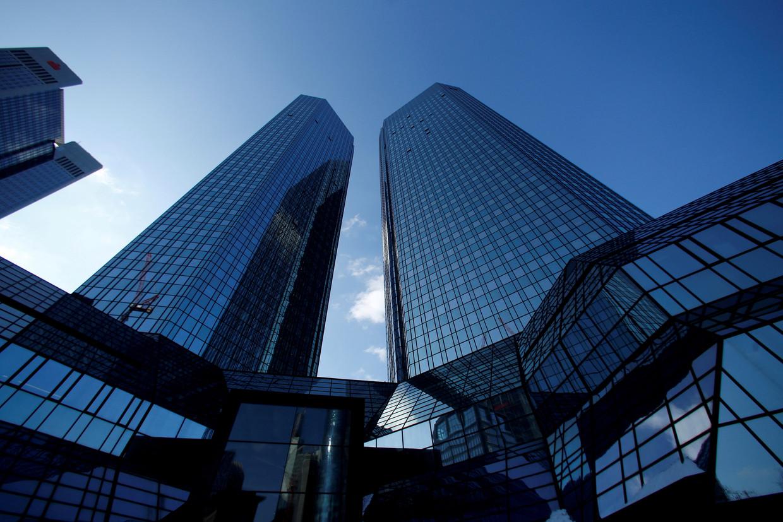 Het hoofdkantoor van Deutsche Bank in Frankfurt.