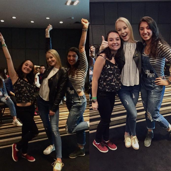 Op de foto met fans in Brazilië.