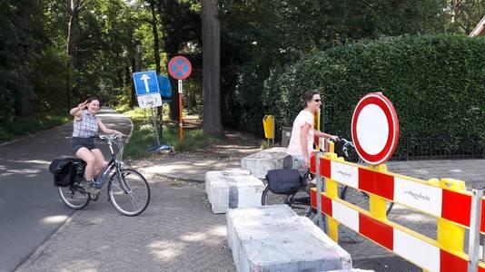 Vorige week konden er alleen nog fietsers Putte inrijden via de geblokkeerde Europalaan.