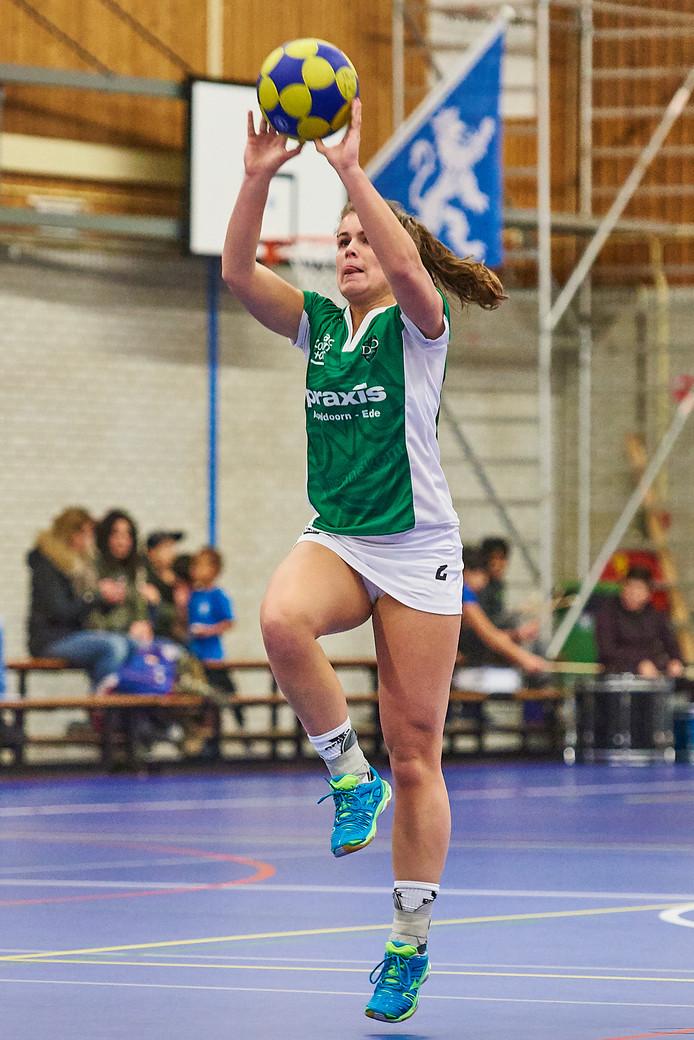 Fleur Hoek, hier in het shirt van DVO, speelt vanaf komend seizoen voor Fortuna.
