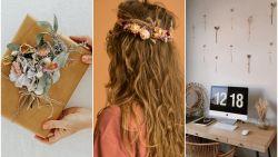 DIY met droogbloemen: 5 hippe ideeën voor je tafel, thuis of outfit