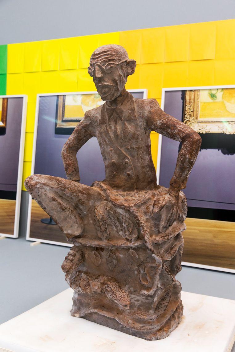 Het chocoladebeeld van Mablala.  Beeld Franz Mueller Schmidt