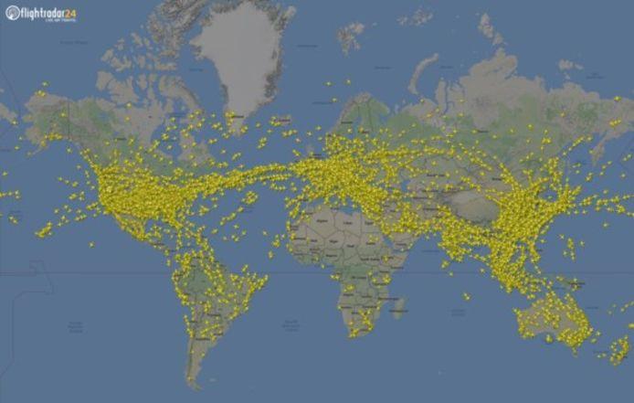 Donderdag waren er 230.409 vliegtuigen in de lucht.