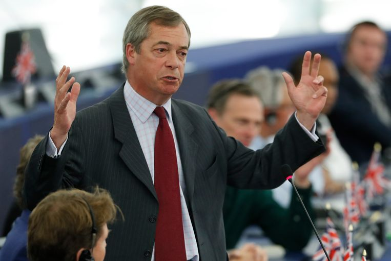 De Britse EU-scepticus Nigel Farage.