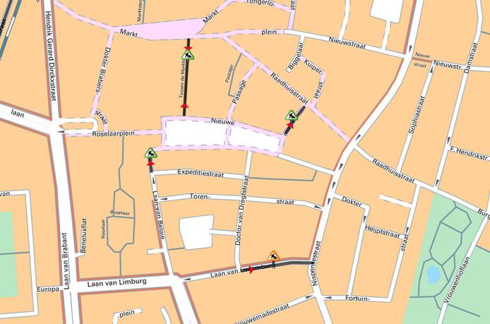 Maandag begint de gemeente Roosendaal in de Laan van Luxemburg met het aanleggen van het laatste stuk van de centrumring.