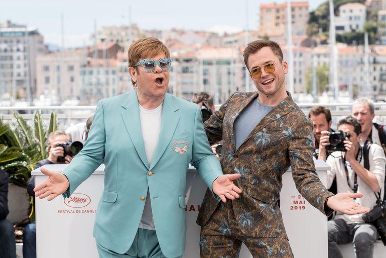 Elton John en acteur Taron Egerton.