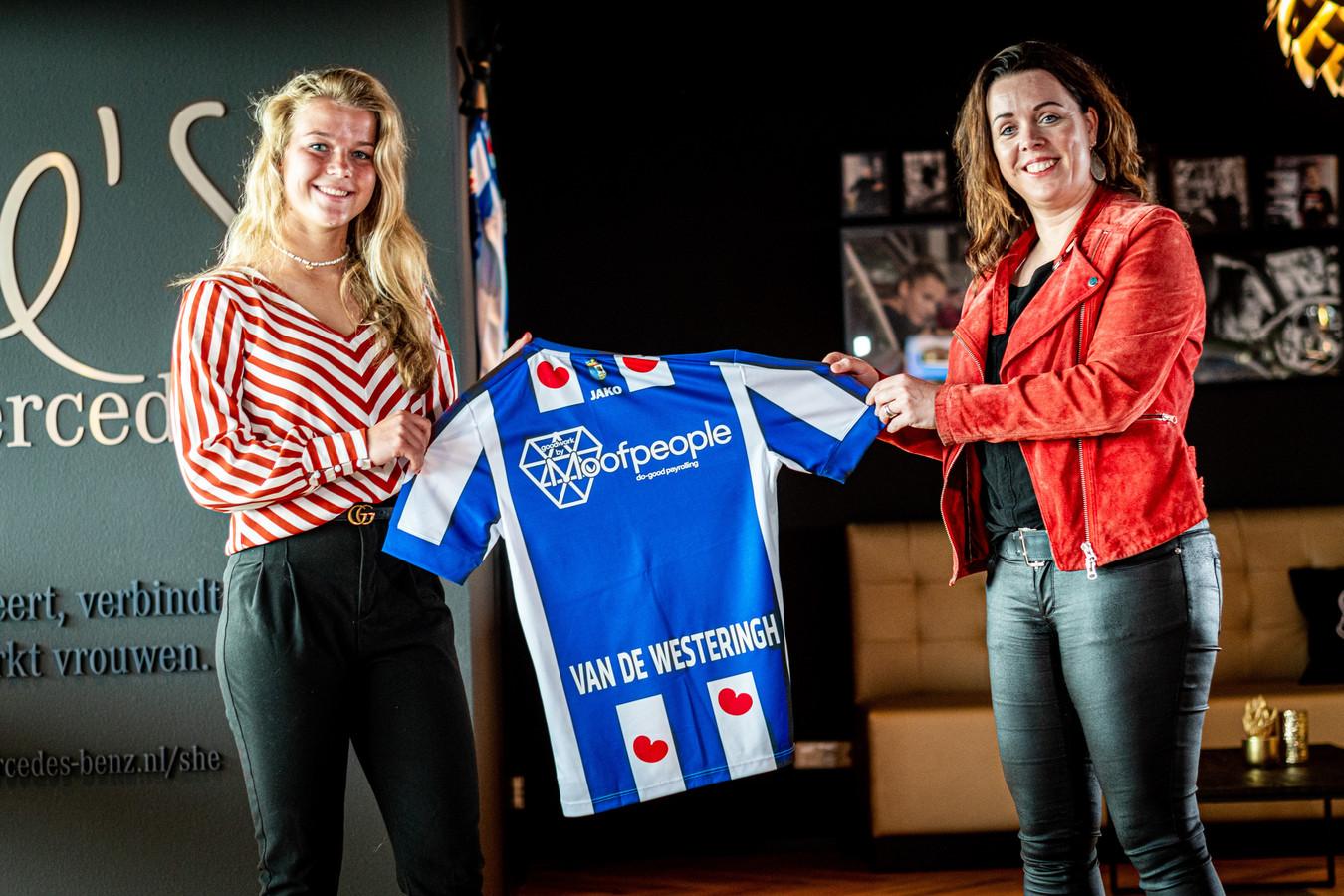 Kirsten van de Westeringh is blij met de samenwerking met SC Heerenveen en voorzitter Jessica Roosenburg.