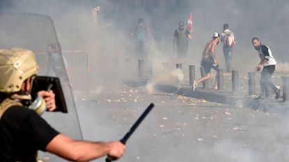 Opnieuw protesten en rellen in Beiroet, vuur vlakbij entree parlement