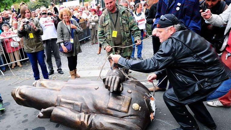 Protesten in Hongarije tegen de regering van premier Viktor Orban Beeld afp