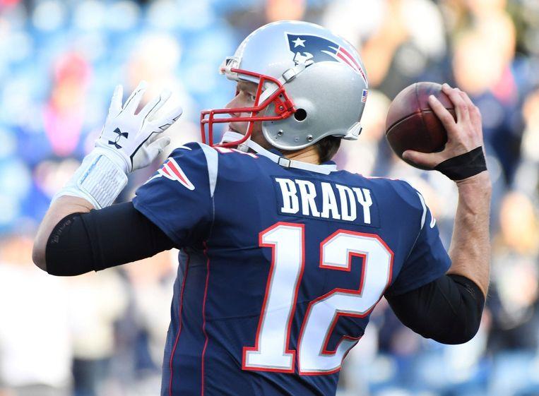 Tom Brady, de grote man bij de New England Patriots die als eerste ooit de Super Bowl zes keer kan winnen.