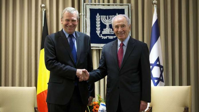 Yves Leterme et Shimon Peres