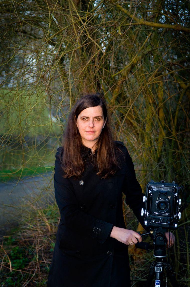 Portret van Rineke Dijkstra Rinke Dijkstra in De Pont in Tilburg Beeld Gerald van der Kaap