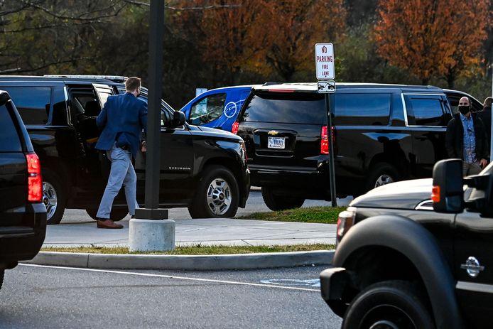 Joe Biden arrivant à une clinique spécialisée dimanche dans le Delaware.