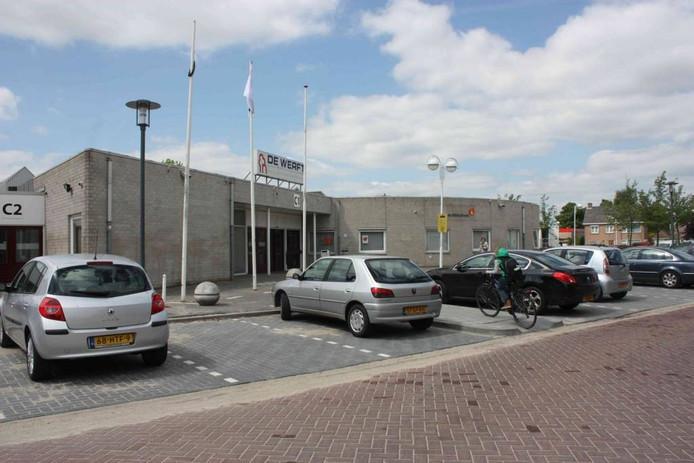Het inmiddels gesloopte ontmoetingscentrum De Werft aan de Huygenstraat in Kaatsheuvel.