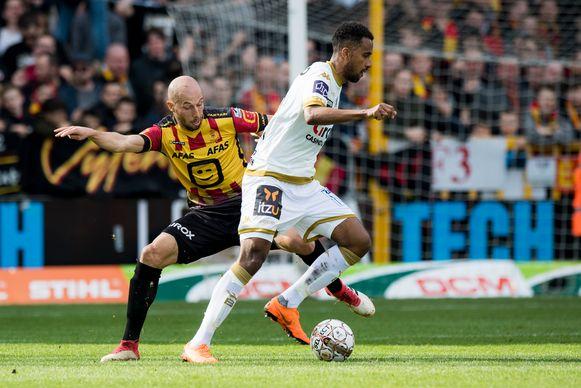 Cocacis versus Keise-Thelin: beeld uit de bewuste KV Mechelen - Waasland-Beveren in maart 2018.