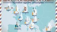 """Zoveel sigaretten """"rook"""" je per dag op citytrip in de populairste steden in Europa"""