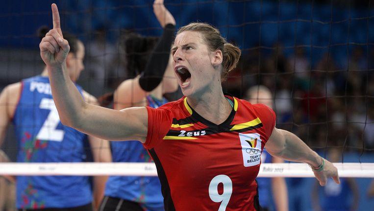 Freya Aelbrecht (archieffoto uit match tegen Azerbeidzjan)