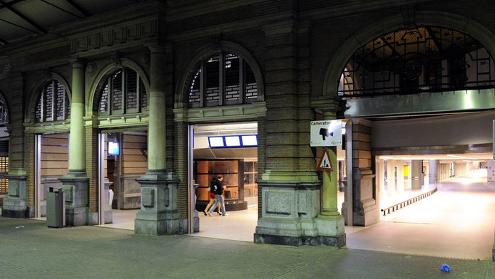 De kinderen maakten een paar gratis kranten buit die de Haagse kort ervoor op station Hollands Spoor had opgehaald
