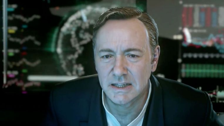 Kevin Spacey in 'Advanced Warfare' Beeld Activision