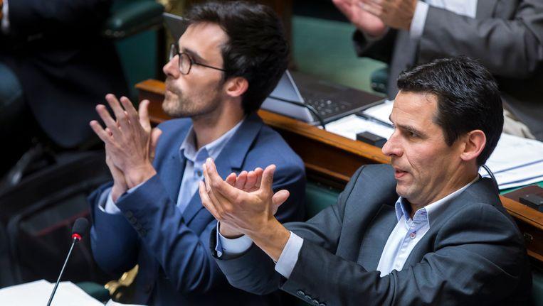 Kristof Calvo (Groen) en Jean-Marc Nollet (Ecolo).