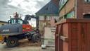 Het huis begon te scheuren en verzakken door de sloop van een aanpalend pand.