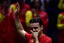 Roberto Bautista Agut huilt na zijn partij.