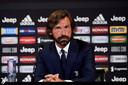 Andrea Pirlo vorige week bij zijn presentatie als coach van Juventus onder 23.